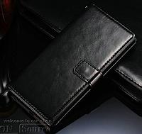 Кожаный чехол-книжка для Lenovo K900 черный