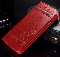 Кожаный чехол-книжка для iPhone 7 Plus красный