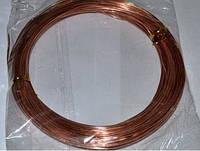 Проволока для бижутерии 1652 светло-коричневая  1 мм, фото 1