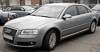 Лобовое стекло на Audi A8 с местом под датчик дождя (капля 2004-2010), окошком под VIN и молдинг (2002-2010)
