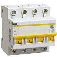 Автоматический выключатель ВА47-29М 4P 04A 4.5кА характеристика D