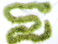Боа пух марабу 1,8 м 25 грамм салатово-гороховий