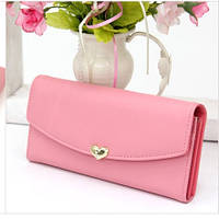 Кошельки женские Сердечко розовый, фото 1