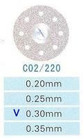 Диск алмазный двухсторонний C02/220/0.30 Kangda Gold Eagle