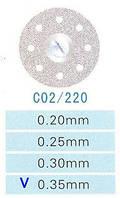 Диск алмазний двосторонній C02/220/0.35 Kangda Gold Eagle