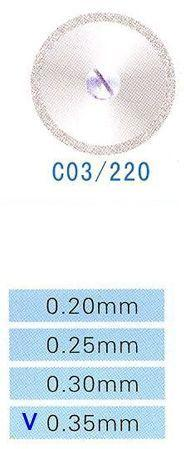 Диск алмазний двосторонній C03/220/0.35 Kangda Gold Eagle