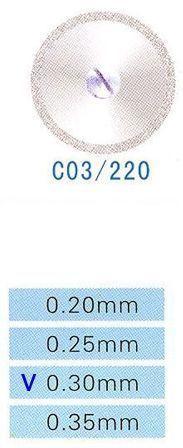 Диск алмазный двухсторонний C03/220/0.30 Kangda Gold Eagle