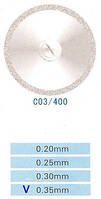 Диск алмазний двосторонній C03/400/0.35 Kangda Gold Eagle