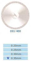 Диск алмазный двухсторонний C03/400/0.35 Kangda Gold Eagle