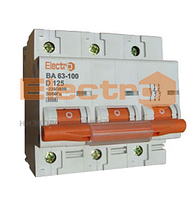Автоматический выключатель ВА63-100 3 полюси 80A 6кА