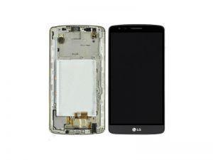 Дисплей с тачскрином LG D690 G3 Stylus серый в рамке (HQ)