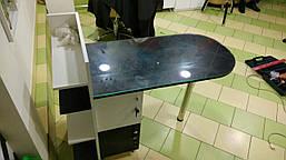 Маникюрный стол со стеклянной столешницей, фото 3