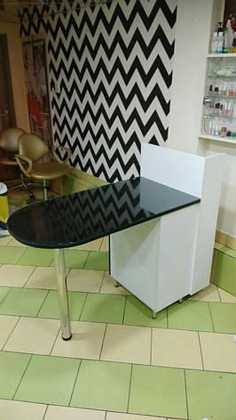 Маникюрный стол со стеклянной столешницей, фото 2