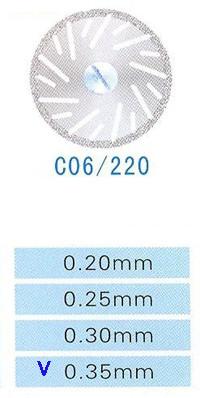 Диск алмазный двухсторонний C06/220/0.35 Kangda Gold Eagle