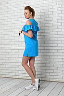 Платье-рубашка (906) аквамарин, фото 1