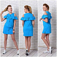 Платье-рубашка (906) аквамарин