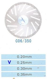 Диск алмазный двухсторонний C06/350/0.25 Kangda Gold Eagle