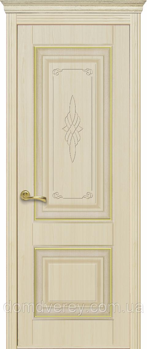 Двері міжкімнатні Новий Стиль, ІНТЕРА, модель Вілла premium, глухе з гравіюванням