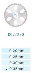 Диск алмазний двосторонній C07/220/0.35 Kangda Gold Eagle