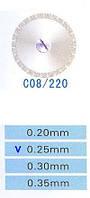Диск алмазний двосторонній C08/220/0.25 Kangda Gold Eagle