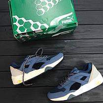 Мужские кроссовки BWGH x Puma R698 Dark Denim Blue 357769-01, Пума Р698, фото 3