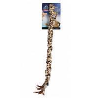 Игрушка Karlie-Flamingo Leopard Fishing Rod для кошек, удочка-дразнилка, 50 см