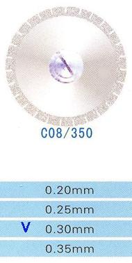 Диск алмазний двосторонній C08/350/0.30 Kangda Gold Eagle