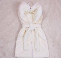 Осенний конверт-спальник для новорожденных Снежок