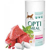 Сухой корм для кошек OPTIMEAL - телятина, 0,65 кг
