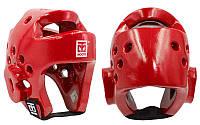 Шлем для тхэквондо PU  MOOTO красный , р-р S-XL