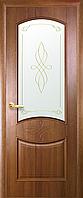 Двері міжкімнатні Новий Стиль, ІНТЕРА, модель Донна, зі склом сатин і малюнком Р2