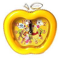 Будильник 2213 яблоко, детский, 11х11см