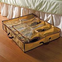 Практичный органайзер для обуви «шузандер», тканевый ящик для обуви, кофр, 79 х 59 см