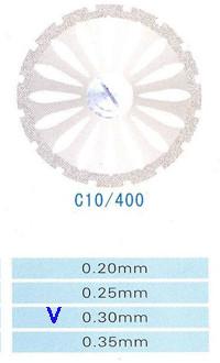 Диск алмазный двухсторонний C10/400/0.30 Kangda Gold Eagle