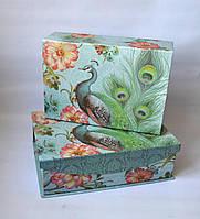 Декоративна коробка-скринька Павич Коробка Павлин