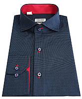 Рубашка приталенная в горошек  №S 55.5 SF, фото 1