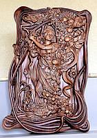 Резная Картина - Дама в Саду 900х600