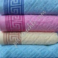 """Махровое кухонное полотенце """"Версаче цветные"""""""