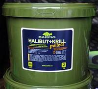 Пеллетс Carpio HALIBUT+KRILL 4,5mm. 3кг