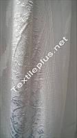 Тюль шифон-батист з білою вишивкою, фото 1