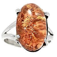 """Серебряное кольцо с лодолитом """"Коралловый риф"""" , размер 17.7  от студии LadyStyle.Biz, фото 1"""