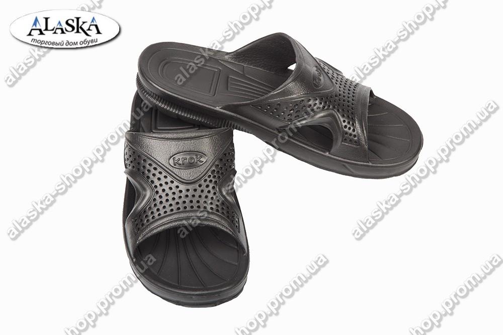 Подростковые шлепанцы черные (Код: С-51 КРОК)