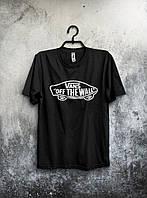 Футболка качественная черная Vans Off The Wall (большой принт)