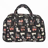 Дорожня  текстильна сумка-саквояж -Кицьки
