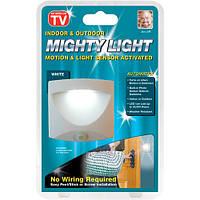 Беспроводной светильник светодиодный mighty light, с датчиком движения, освещение дома, фонарь на батарейках
