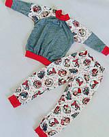 Трикотажная пижама с манжетами. В наличии размеры: 86,92,98,104, 110, 116
