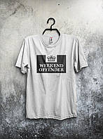 Белая футболка Weekend Offender (большой принт)