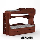 Ліжко двоярусне Бриз з ящиками для будинку або дитячого табору, фото 4