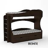 Ліжко двоярусне Бриз з ящиками для будинку або дитячого табору, фото 8