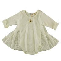 Боди-платье. Бодик для новорожденного, на рост - 62, 68, 74 см. (арт:9-12)